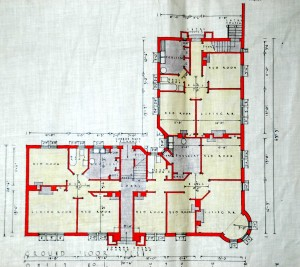 The plans give details of what each room was for and details of bathroom and kitchen fittings.