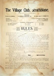 ACC 1319-0022 Strathblane Village Club Rules 1 Oct 1911