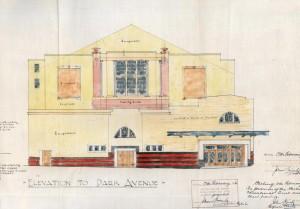 Allan Park Cinema elevation, 1936