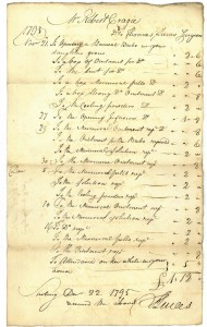 Medical bill of Dr Lucas for treatment given in November/December 1795