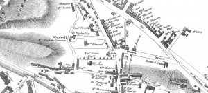 Section of John Wood's 1820 plan of Stirling showing Dr Lucas' house