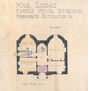 Mar Lodge, first floor plan
