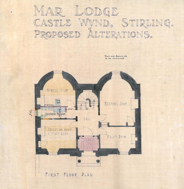Mar Lodge, first floor plan