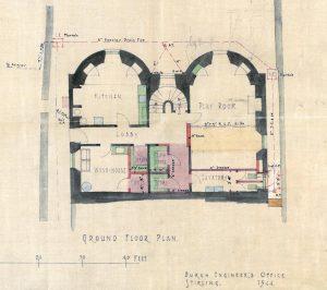 Mar Lodge, ground floor plan, 1944