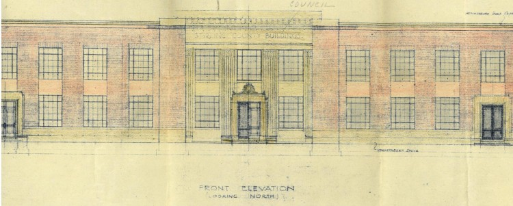Viewforth Extension 1935 front elevation