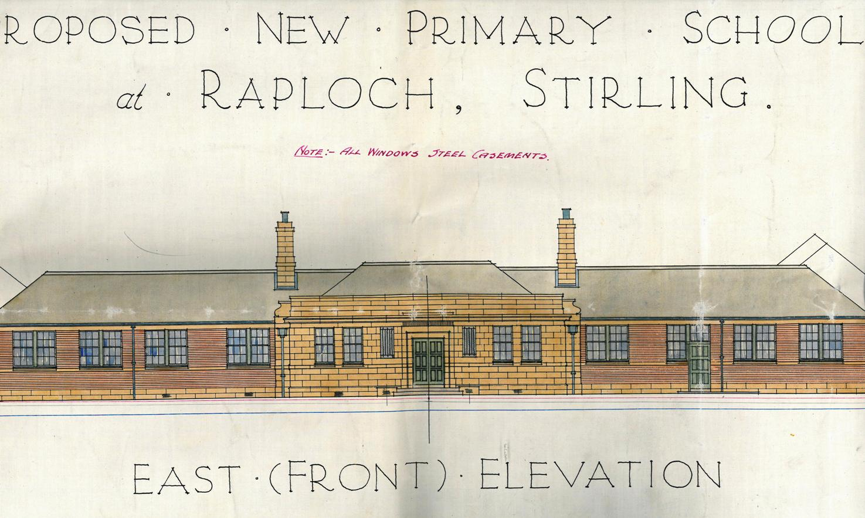 Play School Front Elevation : Stirling school buildings