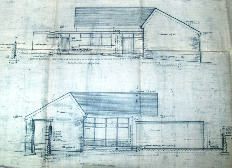 Crianlarich School, elevations, 1967