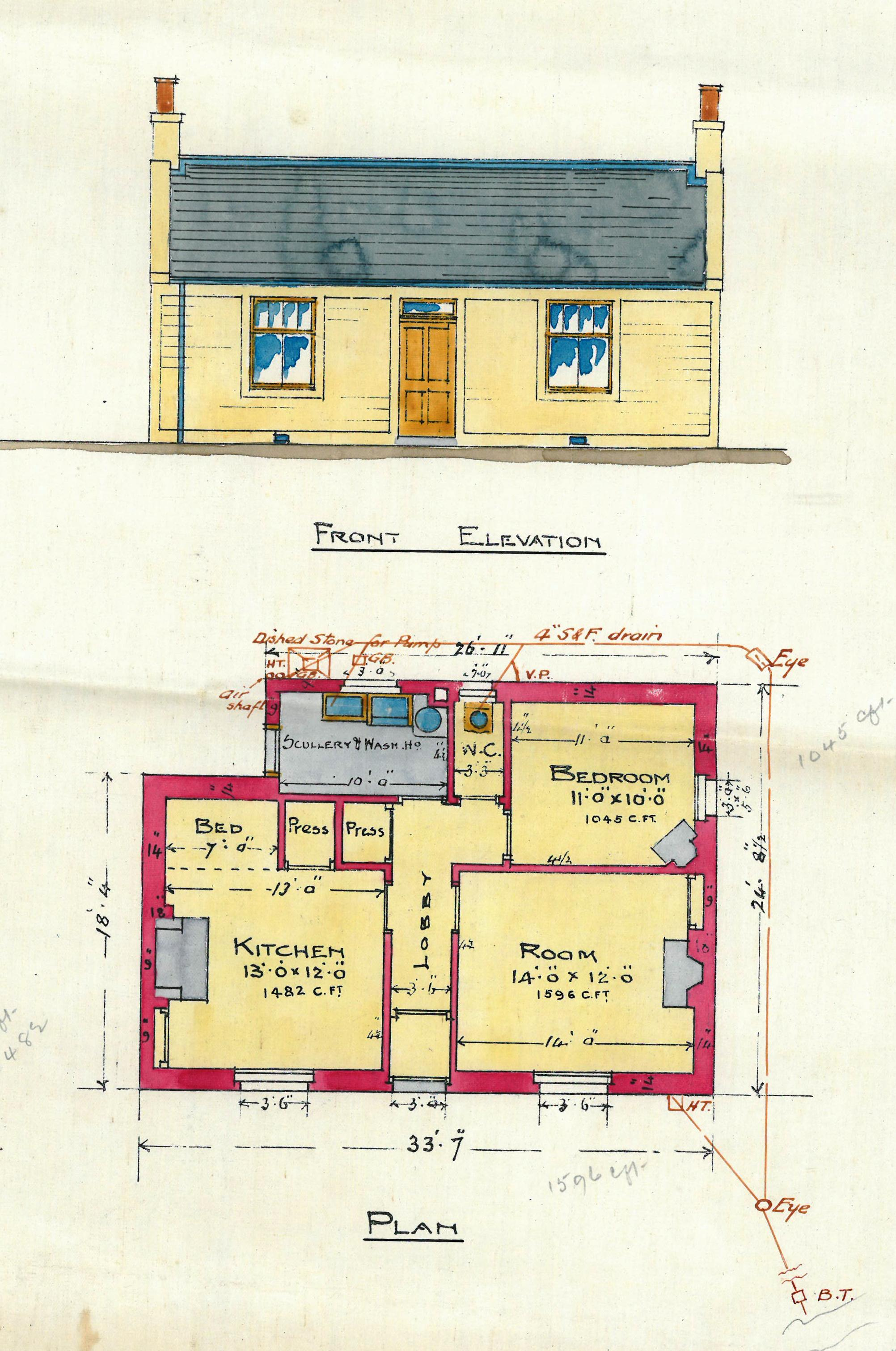 N Home Plan And Elevation : Agents house killearn railway station