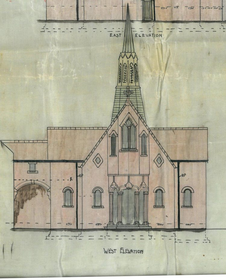 Our Lady and St Ninian Church - West Elevation
