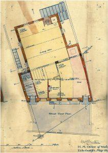 Post Office building, street floor plan, 1894