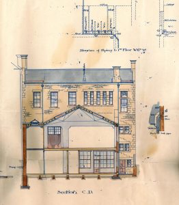 Post Office, cross section, 1894