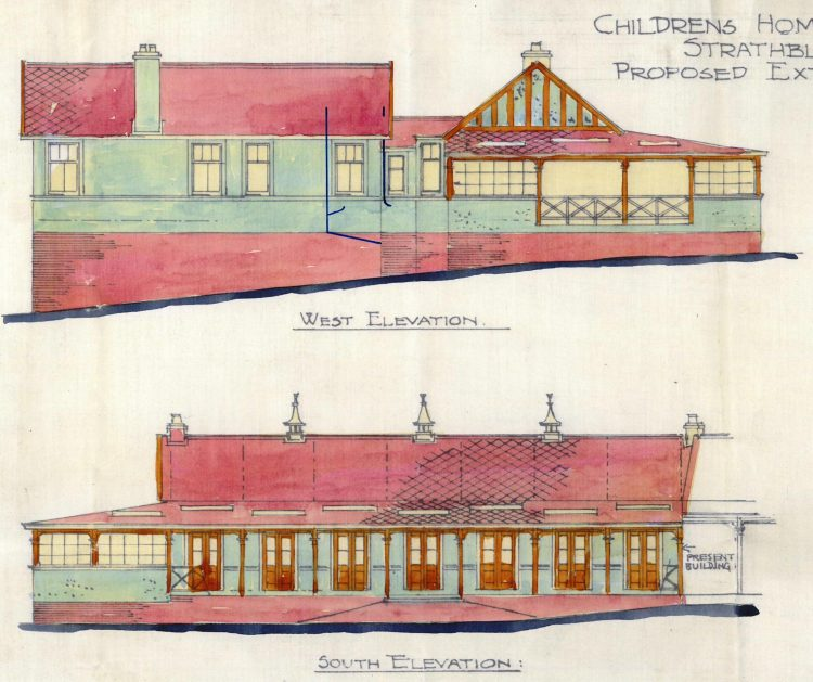 Strathblane Children's Home, Additions - West and South Elevations