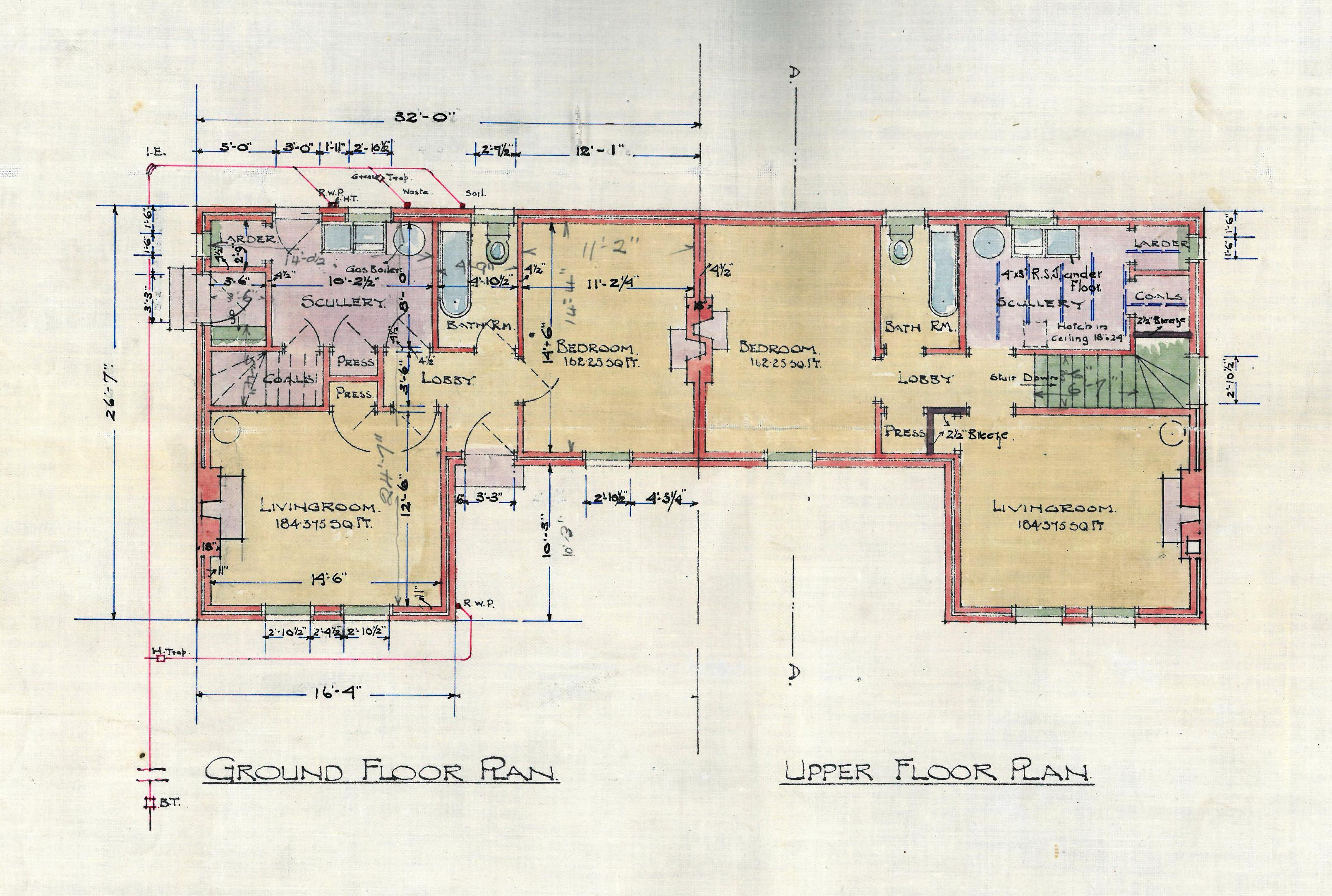 Local authority housing in stirling 1925 1954 for Local house plans