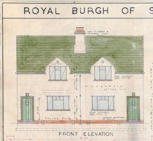Broomridge Housing semi-detached, elevation