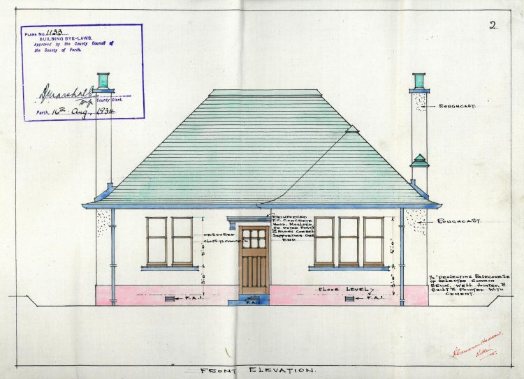 District Nurse's House, Killin, 1934, R. Cameron Haddow