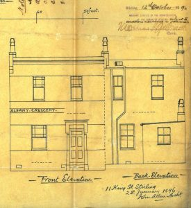 Albany Crescent, 1896, elevation