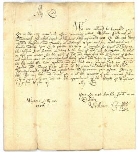 Letter 20th February 1706