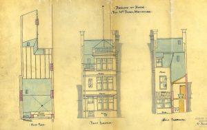Main Street Doune, 1900, elevations
