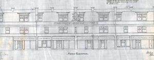 Quakerfield, Bannockburn, shops and flats 1901, elevation