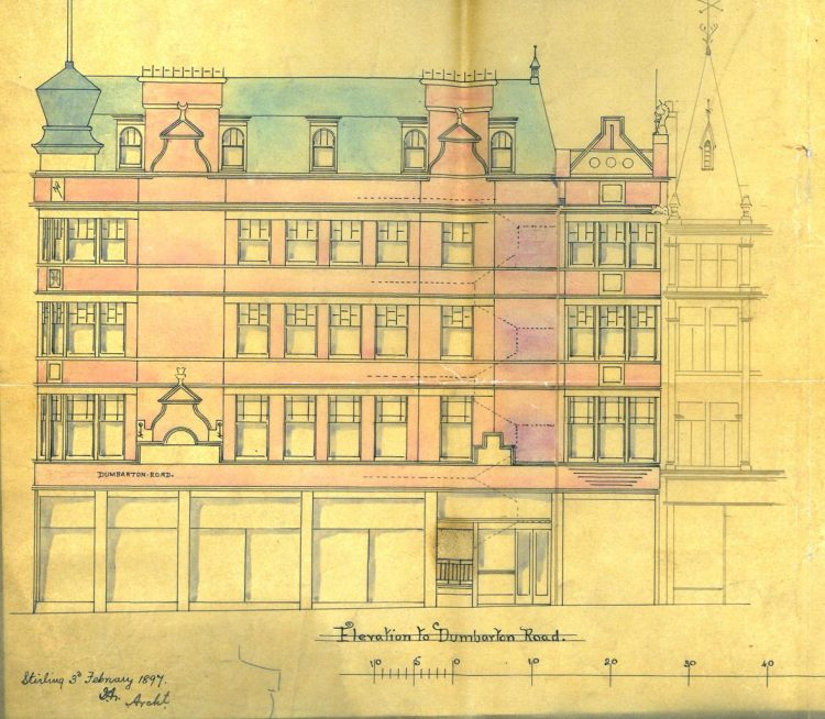 Wolf Craig Building, 1897 front elevation
