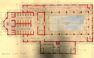 Edward Road Swimming Pool 1930, plan