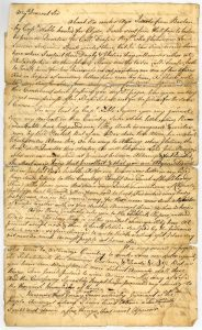 Letter from John Murray to his father, 8th October 1757