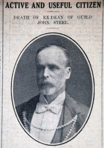 John Steel's obituary in the Stirling Journal 19th February 1925