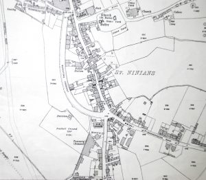 Map of Borestone Park area showing football ground, 1913