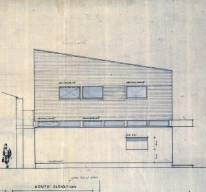 New Pavilion, side elevation, 1973