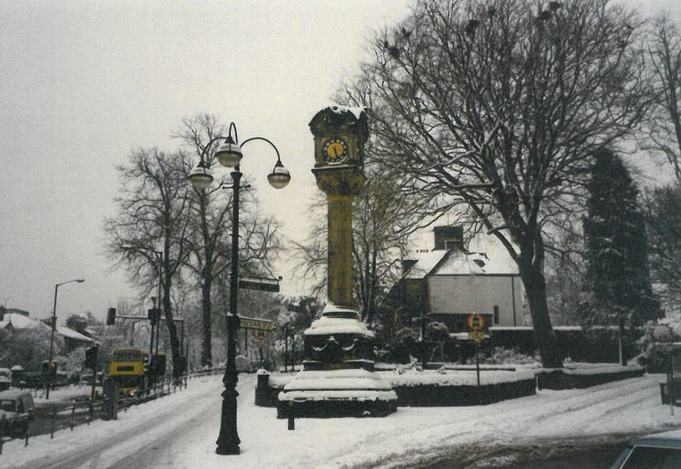 Christie Memorial Clock, Allan Park, winter 1996