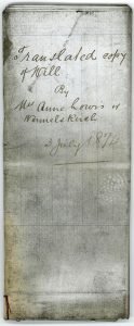 A0070 Will of Anne Wermelskirch