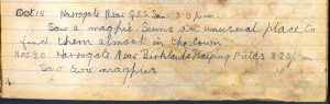 PD100, Viola Stirling's nature diary, 15 Oct & 20 Nov 1921. Reproduced with permission of Gargunnock Estate Trust
