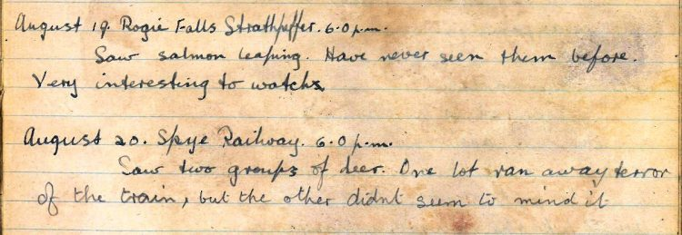 Diary entry for 19th and 20th August 1921