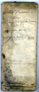 A0070 Marriage Contract, 1826
