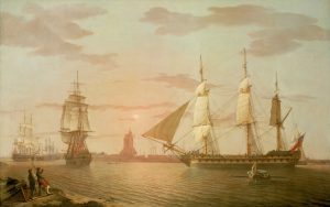 The East Indiaman Warley, c.1804, Robert Salmon
