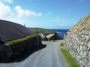 Garenin blackhouse village, photo by Jennifer Marshall