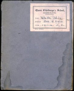 PD100, Viola Stirling's private jotter, 1923/24. Reproduced with permission of Gargunnock Estate Trust