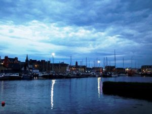 Stornoway at night, photo by Jennifer Marshall