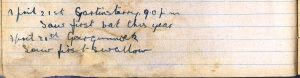 Diary entries for 20th & 21st April 1922