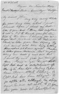 Letter from Elizabeth Murray to her brother John, 1st - 8th November 1855