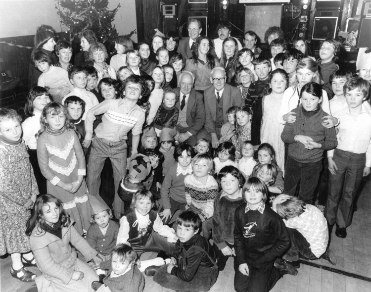Christmas party for traveller children 1981