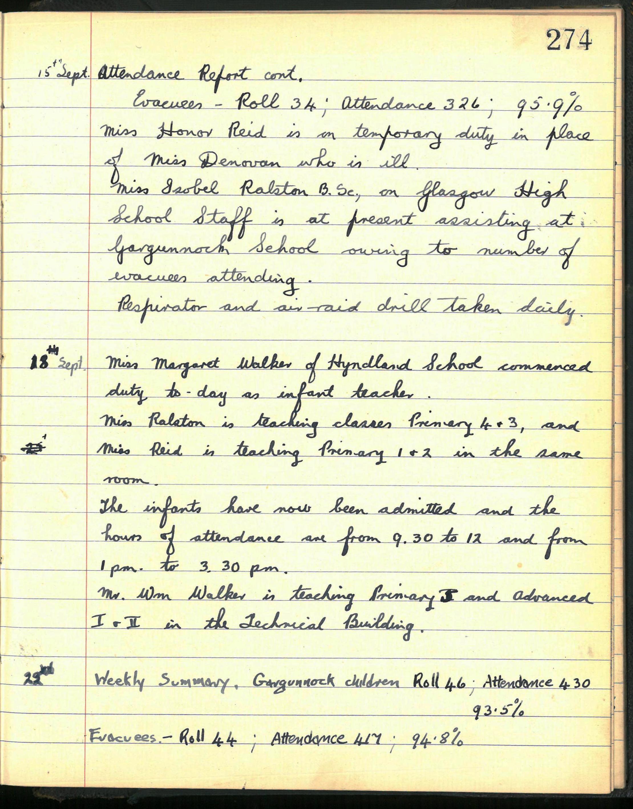 ww2 evacuee diary entry
