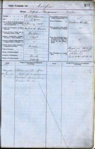Agnes Livingstone's entry in the Register of the Poor
