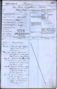 Balfron Register of the Poor Jane Livingstone, 1887