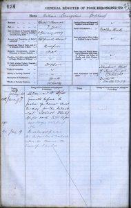 William Livingstone's entry