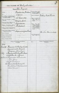 John Ferguson's entry in the Balquidder Parish Register of the Poor