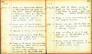 Doune Primary record of the celebrations for the coronation of Edward VII, 1902