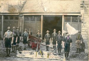 Scout group fire-fighting, location unknown