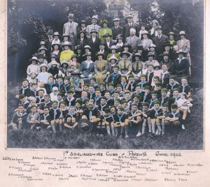 Cub Scouts and parents 1923