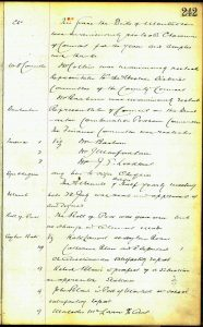 Buchanan Parish Council minutes December 1924